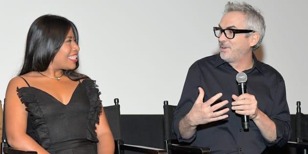 Yalitza Aparicio y Alfonso Cuarón