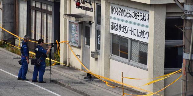 富山県警の警部補が刺された奥田交番=6月26日午後、富山市久方町