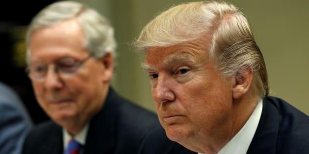 Mitch McConnell et Donald Trump à la Maison Blanche, le 1er mars.