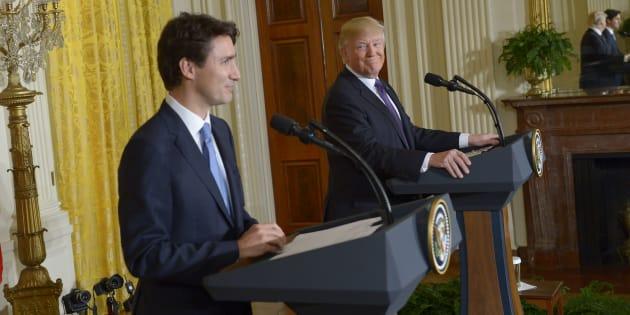 Justin Trudeau et Donald Trump le 13 janvier.