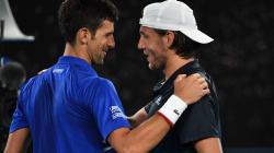 Lucas Pouille s'incline face à Novak Djokovic en demi-finale de l'Open