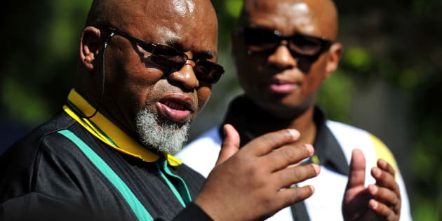 ANC secretary-general Gwede Mantashe and ANC national spokesperson Zizi Kodwa during the party'€™s special national executive committee meeting at the St Georges Hotel on November 11, 2017 in Pretoria, South Africa.