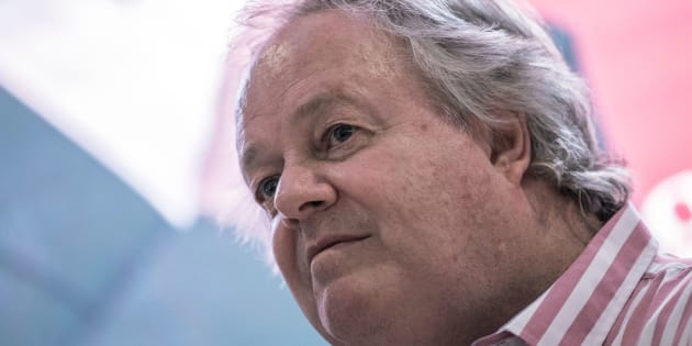 South African investigative journalist Jacques Pauw attends the official presentation of his latest book 'The President's Keepers' in Johannesburg, South Africa on November 8, 2017.