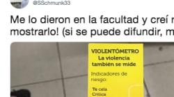 Una universidad triunfa repartiendo este necesario aviso sobre violencia machista a sus