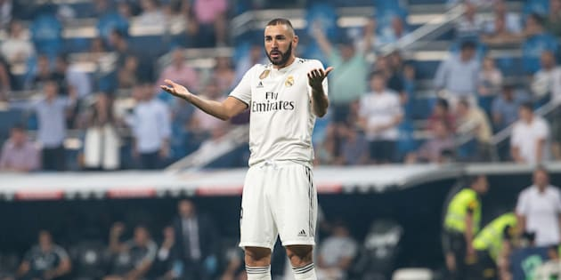 Karim Benzema en septembre 2018 lors d'un match du Real Madrid.