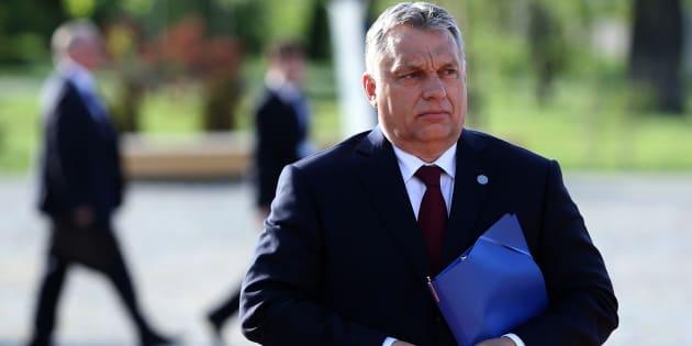 Le premier ministre hongrois, Viktor Orban, à Sofia, en Bulgarie, le 18 mai.