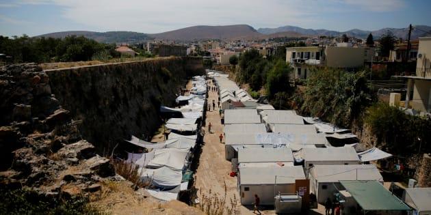Le camp de Souda, à Chios en Grèce. REUTERS/Alkis Konstantinidis/File photo