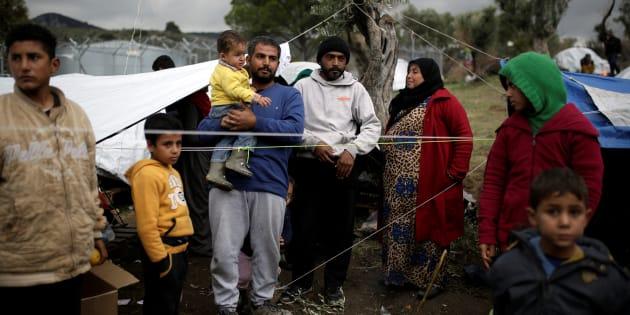 Refugiados en el campo de Moria (Grecia)