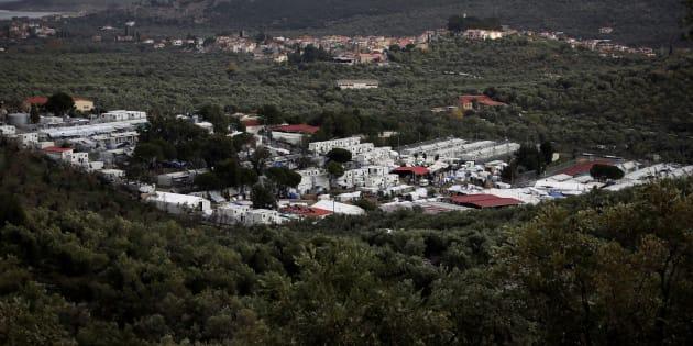 Vista general del campo de refugiados de Moria en la isla griega de Lesbos, en una imagen de archivo.