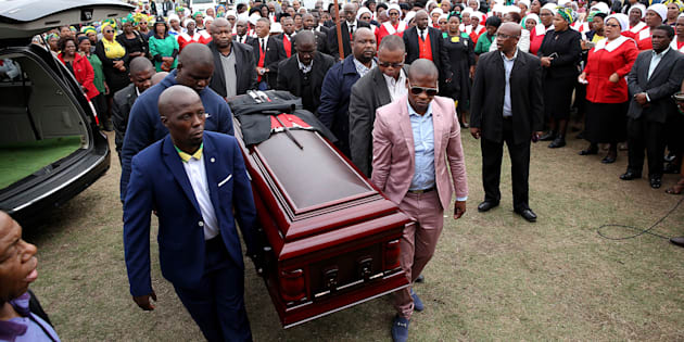 The funeral service of slain former Youth League secretary-general Sindiso Magaqa on September 16 2017 in Umzimkulu. Magaqa died in a Durban hospital two months after being shot multiple times.