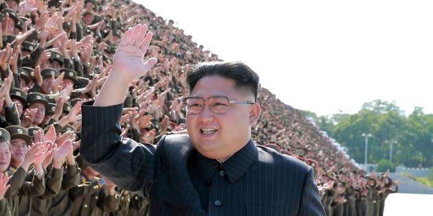 北朝鮮の金正恩朝鮮労働党委員長=朝鮮中央通信が2017年9月1日に配信