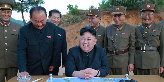 Kim Jong Un en Corée du Nord le 15 mai 2017.