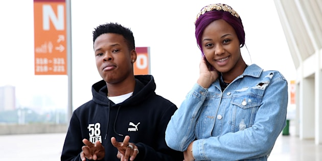 Musicians Babes Wodumo and Nasty C.