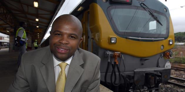 Former Prasa CEO Lucky Montana at Pretoria station on January 18, 2008.