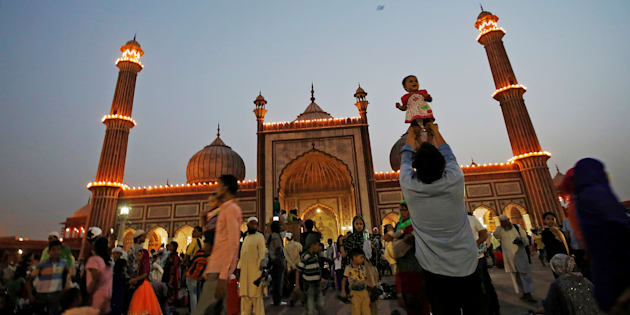 The Jama Masjid, Delhi, during the holy month of Ramzan.