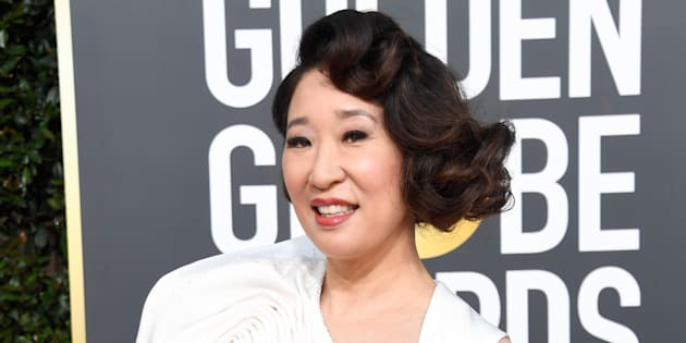 Host Sandra Oh attends the 76th Golden Globe Awards on Jan. 6, 2019 in Beverly Hills, California.