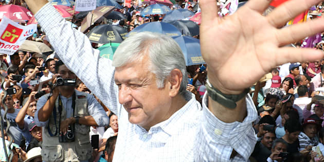 Durante un mitin en Río Verde, San Luis Potosí, López Obrador dijo que en las casas de apuestas de Las Vegas le dan el triunfo con un 85% de ventaja sobre sus contrincantes.