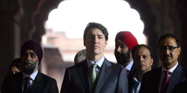 Prime Minister Justin Trudeau visits the Jama Masjid Mosque in New Delhi, India on Feb. 22, 2018.