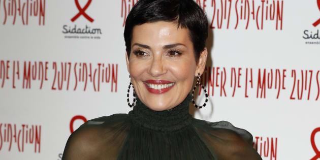 Cristina Cordula le 26 janvier au Dîner de la mode contre le sida à Paris.