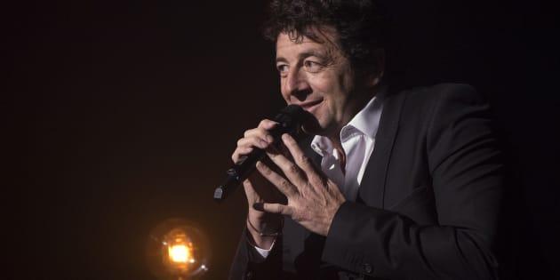 Patrick Bruel au Théâtre Mogador à Paris le 28 mars 2016.
