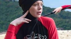 Lindsay Lohan pose en burkini en