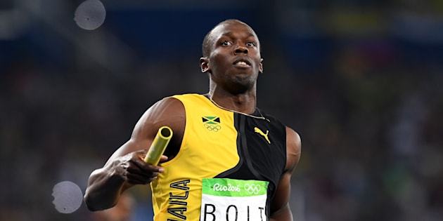 Usain Bolt has run to gold for Jamaica in the 100m relay.