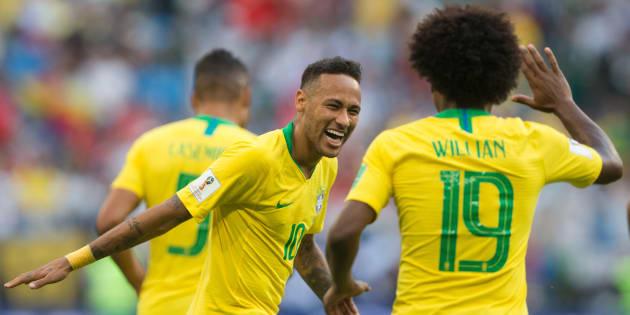 Neymar e Willian brilharam contra o México e garantiram Brasil nas quartas de final.