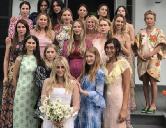 Mary-Kate and Ashley stun at friend's wedding