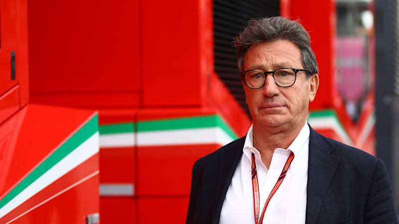 Louis carey camilleri ceo of ferrari in the paddock during the one picture id1025946890