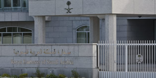 The Royal Embassy of Saudi Arabia in Canada is pictured in Ottawa on Sept. 29, 2010.