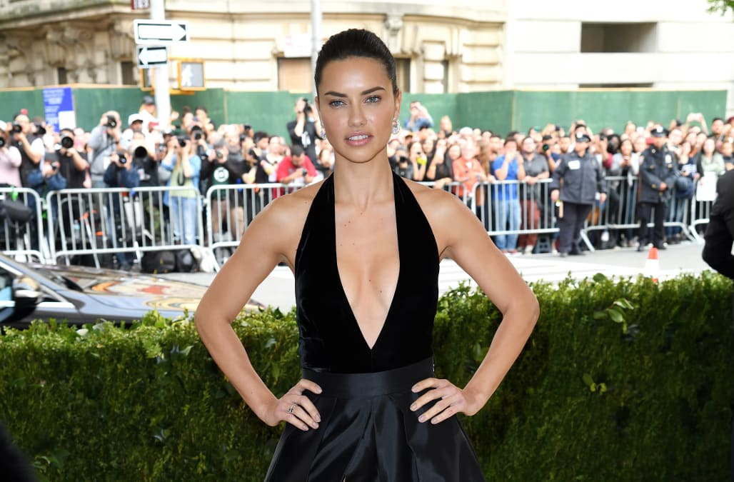 a828dfb75a78 Adriana Lima flashes underwear at the 2017 Met Gala - AOL Entertainment