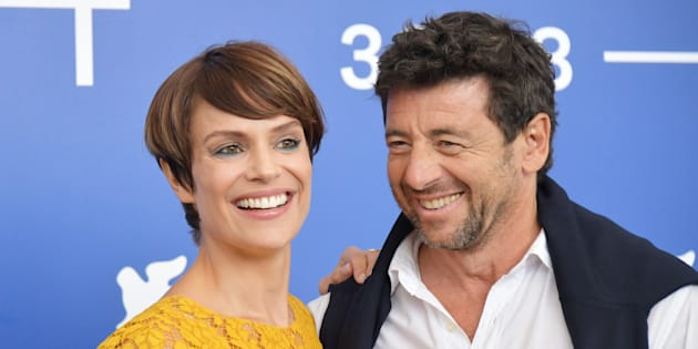 Micaela Ramazzotti and Patrick Bruel attend the 'Una Famiglia' photocall during the 74th Venice Film Festival on September 4, 2017 in Venice, Italy.  (Photo by Dominique Charriau/WireImage)