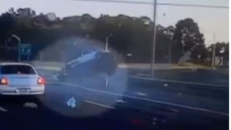 Watch as driver is ejected from tumbling Jeep