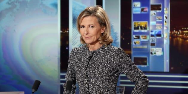 Claire Chazal, ici sur le plateau de TF1 en 2013, fera ses débuts sur la chaîne France Info au mois de mars
