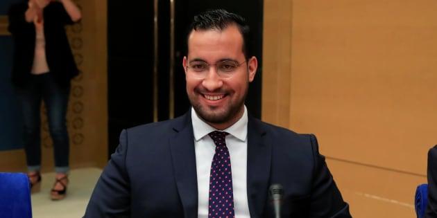 Alexandre Benalla pendant son audition devant la commission d'enquête du Sénat