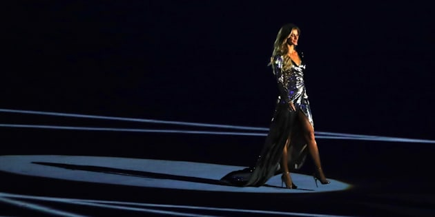 Gisele has wowed the audience at the Rio opening ceremony.