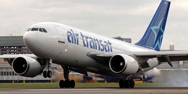 The Air Transat flight was set to leave from Glasgow [file photo].