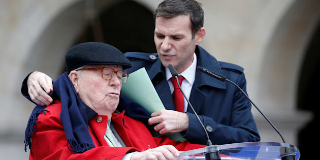 Jean-Marie Le Pen lors de son allocution traditionnelle du 1er mai.