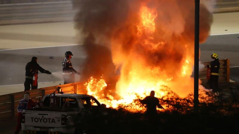 Roman Grosjean F1 crash: Car hit barrier at 119 mph, at a force of 67G