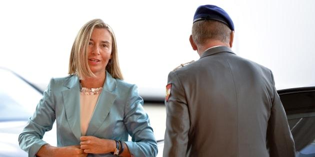 Federica Mogherini, a su llegada a la reunión de Viena.