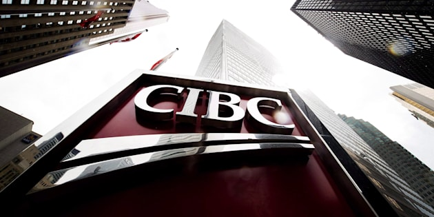 CIBC is refunding 1.4 million customers for improperly charging credit card fees between 2003 and 2017. CIBC signage is shown in the financial district in Toronto on Aug. 22, 2017.