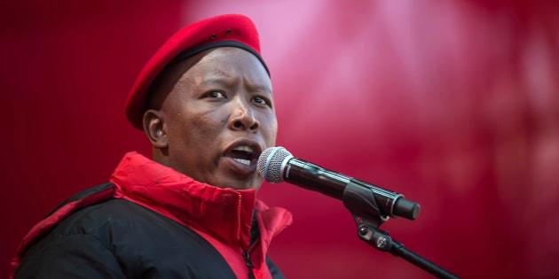 Economic Freedom Fighters (EFF) leader Julius Malema.