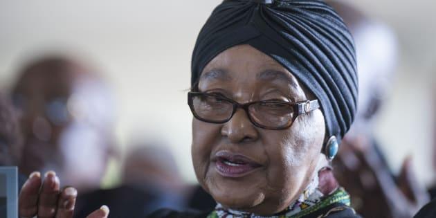 Winnie Madikizela-Mandela.