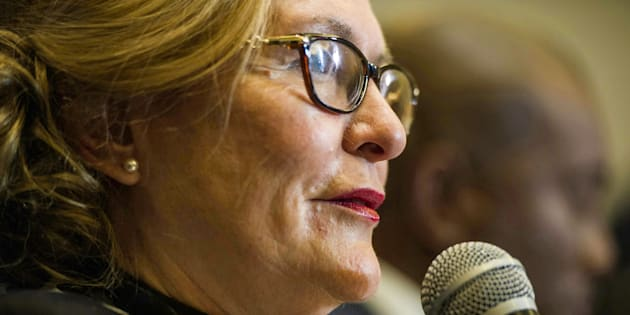 South Africa's main opposition Democratic Alliance (DA) party's former leader, Helen Zille.