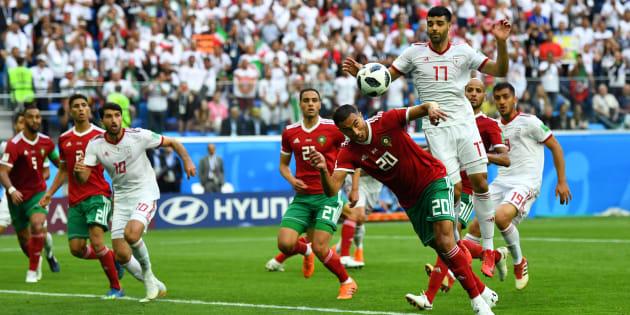 Le résumé et les buts de Maroc-Iran: Aziz Bouhaddouz a marqué un magnifique but contre son camp