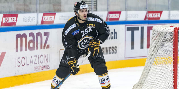 Maxim Lapierre avec le HC Lugano.