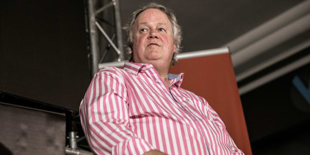 Investigative journalist Jacques Pauw during the official presentation of his latest book 'The President's Keepers' in Johannesburg on November 8, 2017.