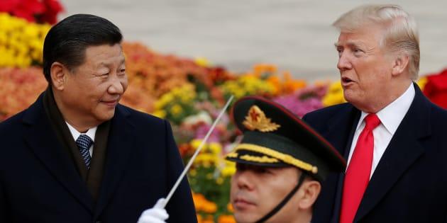Donald Trump et Xi Jinping à Pékin, en novembre 2017
