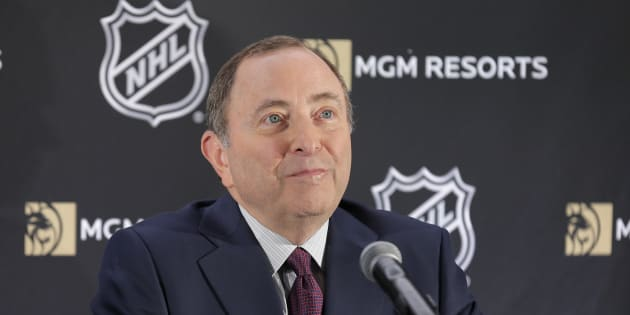 Le commissaire de la Ligue nationale de hockey, Gary Bettman.