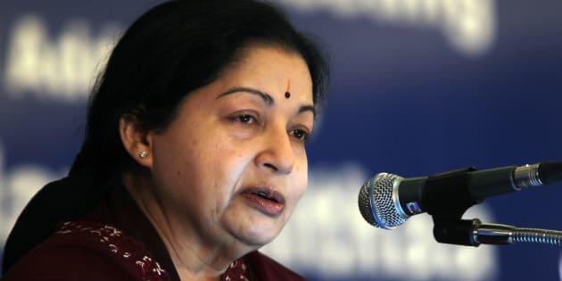 Tamil Nadu Chief minister J Jayalalithaa in a file photo.